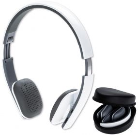 Bluetooth Headphone mit Pouch als Werbeartikel