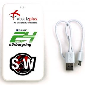 3-in-1 Powerbank 2-in-1 Kabel Type C-Adapter als Werbeartikel
