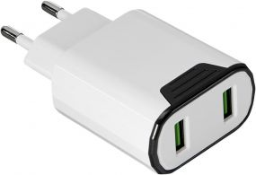 2 USB Wall Charger als Werbeartikel