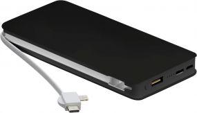 Powerbank 10.000 Wireless Charger + Kabel als Werbeartikel