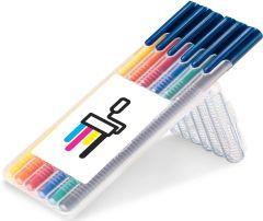 STAEDTLER triplus color, Box mit 6 Stiften als Werbeartikel