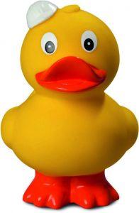 Quietsche-Ente Bauhelm, stehend als Werbeartikel