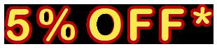 5% Online-Rabatt